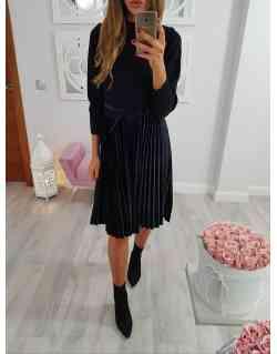 Sukienka plisowana+sweterek