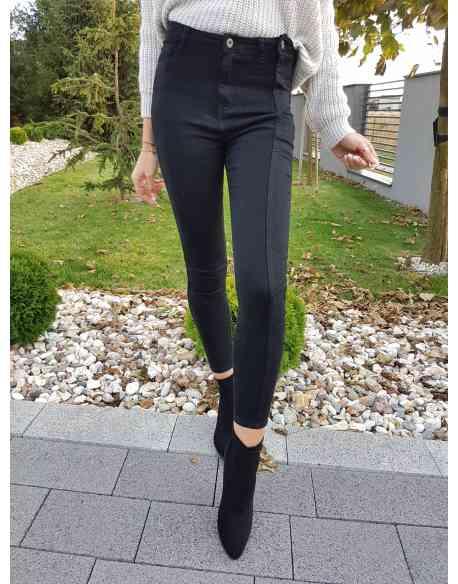 Spodnie z przeszyciem black